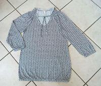 ESPRIT Langarm-Shirt Gr. XS schwarz grau & weiss 3/4 Armlänge