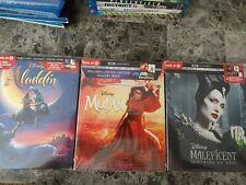 Aladdin, Mulan, Maleficent (4k+Blu-ray Digital) New! Target Exclusive
