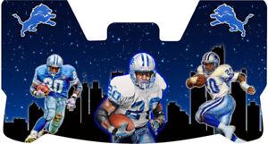 Custom Lions Barry Sanders Skyline Football Helmet Visor, W/ Unbranded Clips