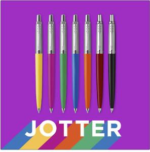 New Parker Jotter Ballpoint Pen 7 Pack Retro Finishes Black Ink Made in France