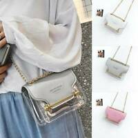 Handbag Women PVC Transparent Clear Shoulder Bag Tote Jelly Candy Summer Beach