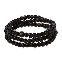 Buddhist sandalwood necklace prayer beads Mala Bracelet Buddha Tibet O6C1