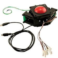 "3"" HAPP Solid RED TRACKBALL USB, Great for MAME and Multicades"