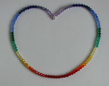 Splendido Cristallo Arcobaleno Collana Swarovski Elements Argento Sterling 925 Insolito