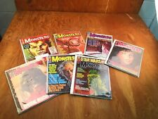 VINTAGE Lot of 7 OF FAMOUS MONSTERS MAGAZINE 49 54 61 122 123 130 140