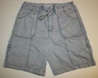 Womens St. John's Bay Flat Front Drawstring Bermuda Shorts Sz: 10 Gray Pockets