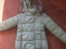 Mayoral Jeans Puffa Chaqueta Niñas Edad 16 Señoras Tamaño 6 8 Verde Esmeralda Snowboard