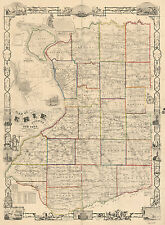 1854 Farm Line Map of Erie County Ny from actual surveys Buffalo Large 40 x 54