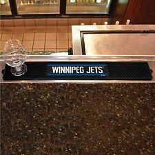 "Winnipeg Jets 3.25"" x 24"" Bar Drink Mat - Man Cave, Bar, Game Room"