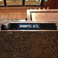 """Winnipeg Jets 3.25"""" x 24"""" Bar Drink Mat - Man Cave, Bar, Game Room"""