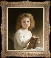 """Old Master-Art Antique Oil Painting Small girl on canvas 20""""x24"""""""