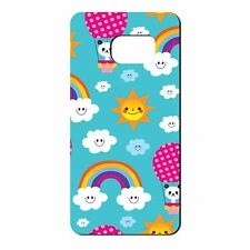 For Samsung Galaxy S7 Silicone Case Cloud Rainbow Pattern - S136