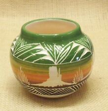 Ute Mountain Native American Pottery Red Earth Herb Bowl Monument Valley Design