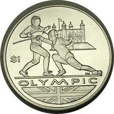 elf British Virgin Islands 1 Dollar 2012 Olympic Games Fencing