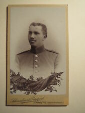 Bamberg - Soldat in Uniform - Regiment Nr. 5 - Trommel Fahne ...- Portrait / CDV