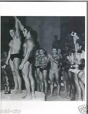 Arnold Schwarzenegger / Dennis Tinerino Mr Universe Show Bodybuilding Photo B&W