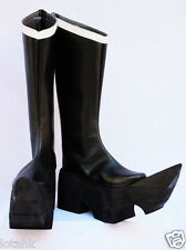 Vocaloid Black Gold Saw BOOTS Cosplay SHOE Custom Made