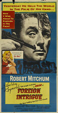 Foreign intrigue Robert Mitchum movie poster print