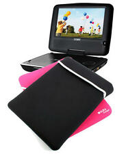 """10"""" Reversible Black/Pink Portable DVD Player Sleeve/Case For Coby TFDVD1029"""