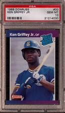 Ken Griffey Jr. Mariners 1989 Donruss #33 Rated Rookie Card rC PSA 10 Gem Mint