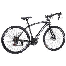 2020 Road Bike Shimano 21 Speed Bicycle 700C Mens Bike 54cm Daul Disc Brake BK