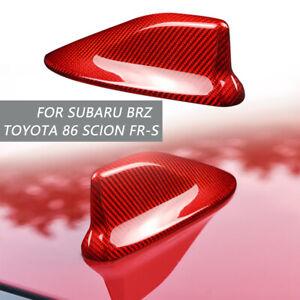 For Subaru BRZ Toyota 86 Scion FR-S Red Carbon Fiber Car Shark Fin Antenna Cover