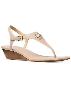 MICHAEL KORS Ramona Wedge Sandal Soft Pink Leather Women's Size 9 BOXED