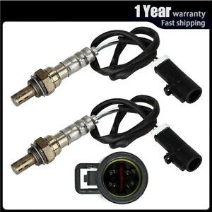 2pcs Upper & Undder O2 Oxygen Sensor For 2000 01 02 03 2004 Ford Focus L4 2.0L