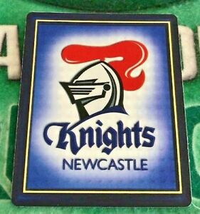 2009 NRL Footy Frames Tazo No 32 Newcastle Knights Trio Gold Embossed