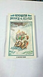 Gnomes Pixies And Elves Sleigh Ride Jigsaw Puzzle J Ewers 1979 Vintage 70s VTG