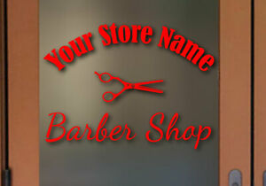 Custom Barber Shop sign Vinyl Decal Many colors and Sizes