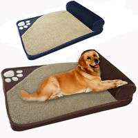 Large Luxury Dog Bed Pets Cat Cushion Pillow Mattress Warm Soft Couch Blue