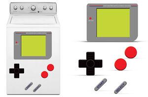 Dry Erase Gamer Decals For Samsung Washing Machine Classic 80s Stickers GAME BOY