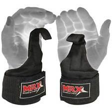 Power Weight Lifting Straps Wrist Support Gym Training Bandage Cordura Hook, BLK