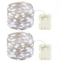 2 Pack Battery Operated Mini Lights with Timer,50 Cold White Leds Fairy Lights