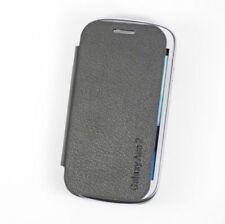 Fundas y carcasas liso de color principal negro de piel sintética para teléfonos móviles y PDAs