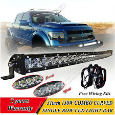 Single Row 30'' inch Curved CREE LED light bar offroad 4WD boat UTE driving ATV