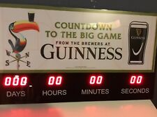 Guinness Beer Count-down to St. Patrick's Day / The Big Game Clock Brand New