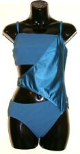 "Ladies Speedo Swimsuit Sculpture Wrap Swimming Costume Swimwear Teal Size 34"""