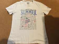 Fat Face Mens White Summer Tour T-Shirt - Size S Small