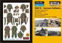 WW II German Zeltbahn  Suit scales 1/35