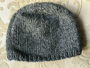 Hand-knitted Pure Woolen Hat Slouch Beanie Bobble Hat knitted:Choice of colours