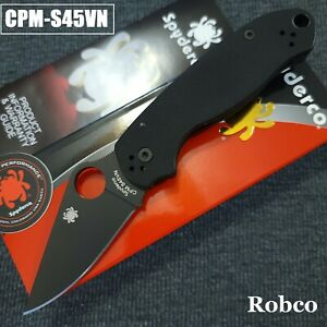 Spyderco Para 3 S45VN DLC Coated Black Blade Blk G-10 (Paramilitary 3) C223GPBK