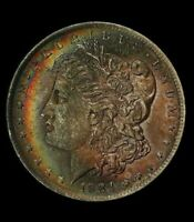 1884-O Morgan Silver Dollar, NGC MS62 CAC, Rainbow Toned (DR)
