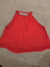 Womens Top Red Small H&M