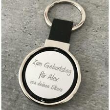 Schlüsselanhänger mit Gravur rund personalisieren, Anhänger mit Wunschgravur