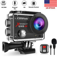 Campark 4K UHD Action Digital Camera WiFi 20MP Sports Cam Camcorder+Microphone