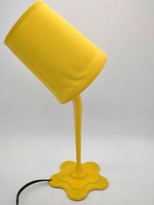 Unique Spilled Paint Bucket Desk Table Lamp Yellow