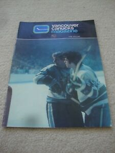 1971 2nd NHL SEASON.VANCOUVER CANUCKS v PITTSBURGH PROGRAM. TIM HORTON.PAT QUINN