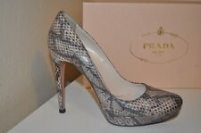 $1,100+  PRADA Python Leather Platform Pump Heel Shoes 38 -8 Women's shoe